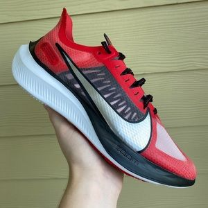 Red Black & White Light Weight Nike Running Shoes